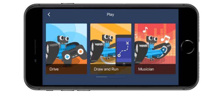 application điều khiển mBot ranger trên mobile