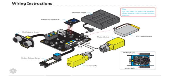 Bước kết nối các bộ phận với bảng điều khiển