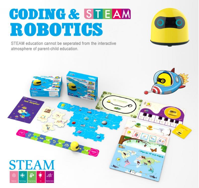 robot mầm non steam coding