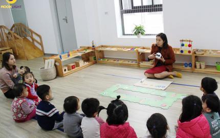 Lớp học robot mầm non mTiny tại trường mầm non Ánh Trăng Văn Phú Hà Đông