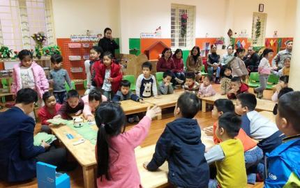 Lớp học robot tại trường mầm non Tây Mỗ